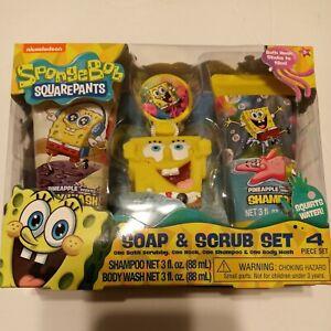 Nickelodeon SpongeBob SquarePants 4-Piece Soap & Scrub Bath Holiday Set