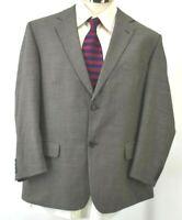 Botany 500 Stretch Mens 44 Short 100% Virgin Wool Blazer Jacket Sport Coat Gray