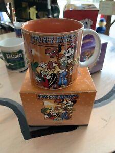 Walt Disney Company Two Gun Mickey Coffee Mug All Around Graphics Exclusive Rare