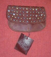 Urban Outfitters Ecote Brown Leather Wallet w/ Studded Flap NWOT Coin Purse