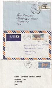 RRR4394 South West Africa 11 different stamped covers from early to 1980s