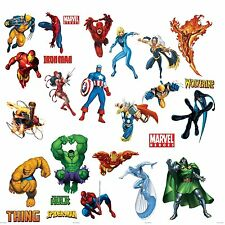 Marvel Superheroes Avengers Wall Decal Spider-man Captain America Iron Man Hulk