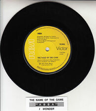"""ABBA  The Name Of The Game 7"""" 45 rpm vinyl record + juke box title strip"""