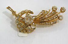 ANTIQUE spilla oro diamanti vintage 800 gold diamond brooch