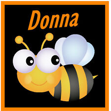 PERSONALISED CUTE BUBBLE BEE SOUVENIR NOVELTY BIG SQUARE FRIDGE MAGNET / GIFTS