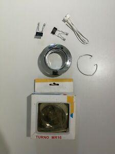 2 Stk. SLV  Turno MR16 Lampenhalter brushed metal Lampe Beleuchtung Elektro