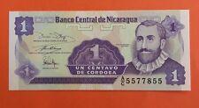 Banco Central de Nicaragua 1 Centavo 1991-1992 KM:167 Undated UNC