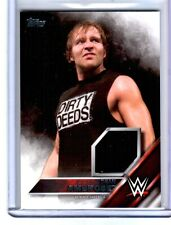 WWE Dean Ambrose 2016 Topps Event Used Shirt Relic Card SN 90 of 299