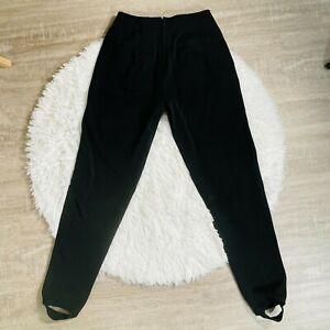 Vintage DKNY Black Stirrup Pants 80s High Waisted Leggings