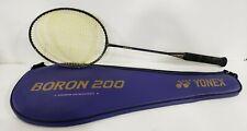 New listing YONEX BORON 200 Graphite Badminton Racquet Racket w Case-Nice Shape