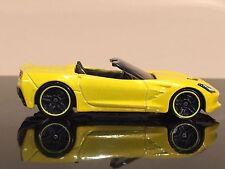 HOT WHEELS 2015 C7 Corvette Stingray Yellow Chevy American VHTF Loose Mint