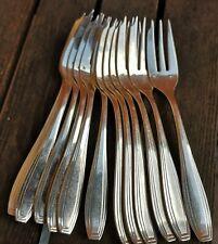 12 fourchettes à gâteaux métal argenté Félix Frères