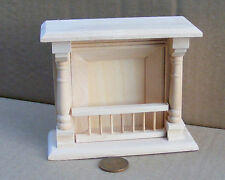 1:12 Scale Natural Finish Wooden Fire Place Dolls House DIY Accessory 058