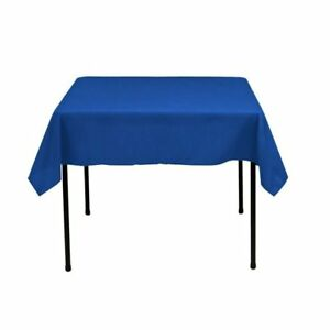 Square Tablecloth - 60 x 60 Inch - Royal Blue Square Table Cloth for Square or
