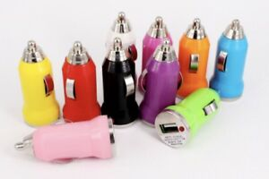 Lot 100 x Color Mini USB Car Charger Adapter For iPhone 7 8plus Samsung HTC