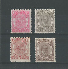TONGA 1892 1d, 2d, 4d. MINT NO GUM 1/- M/MINT FAULT SG;10/12,14 Cat £195