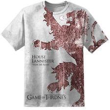Mens Game Of Thrones House Lannister Distressed T Shirt Stark Khaleesi Targaryen