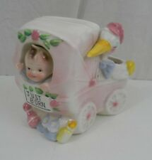 Vintage Shafford Co Pink Baby Carriage Planter Just Born DesignedbyJames Summers