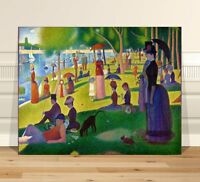 """Georges  Seurat Sunday Afternoon~ CANVAS PRINT 36x24"""" ~  Classic Pointalism Art"""