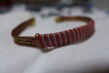 """Unique et superbe bracelet cuivre copper - Pièce artisanale """"rouge"""" !"""