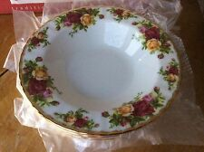 8 Royal Albert Old Country Roses Rim Soup Bowls Made in England