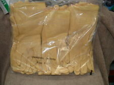 """12 PAIRS OF SIZE 7 - 7-1/2 UNIROYAL LATEX RUBBER GLOVES MADE IN SPAIN 12"""" LONG"""
