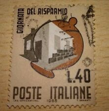 POSTE ITALIANE GIORNATA DEL RISPARMIO L40 - 1965 - VIAGGATO