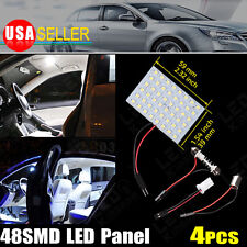 4X White LED Dome Map Interior Light Bulb SMD 48-LED Panel Xenon HID Lamp 12V DC