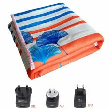 Electric Heated Blanket Double Thermal Control Safe Soft Comfortable for Winter