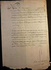 King Louis Xv Autograph On Military Order Document - 1765