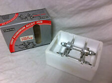 Silver 1980s NOS KT 36 HOLE HIGH FLANGE HUBS FRONT & REAR Old School BMX 36H