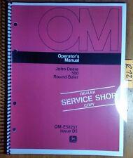 John Deere 500 Round Baler Owner's Operator's Manual OM-E58251 D5 4/75