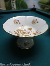 Limoges France, footed compote white and gold decor[a*4stand]