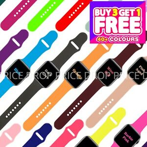FOR APPLE WATCH STRAP SPORT SILICONE BAND iWATCH SERIES 7 6 SE 5 4 3 38 40 42 44
