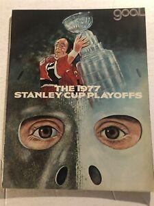 1977 Stanley Cup PLAYOFFS Magazine PHILADELPHIA FLYERS Islanders BOSTON BRUINS