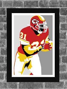 Kansas City Chiefs Priest Holmes Portrait Sports Print Art 11x17