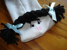 Sock puppet girl black braids perform theater classroom great gift
