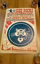 BLUES TRAVELER POSTER July 4th 2016 RED ROCKS UNCLE CRACKER THOMPSON SQUARE
