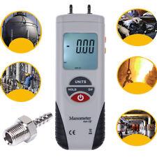 LCD Digital Manometer Differential Air Pressure Meter Gauge 2Psi ±13.79Kpa US