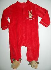FIRST IMPRESSIONS girls boys 1st CHRISTMAS Red REINDEER SLEEPER* 3 6 months