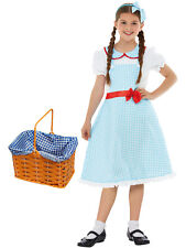 Girls Deluxe Dorothy Costume Childs Fancy Dress Kids Book Week Day Character