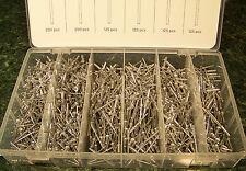 1,000 pc. Aluminum Rivets 1/8 inch 4 sizes rivet hand or air gun Aluminum Heads