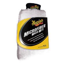 "Meguiar's Thick Large 7.5"" x 11.5"" Microfiber Wash Mitt Car Crazy ClearCoat Safe"