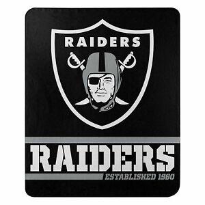 "New Football Raiders Fleece blanket Southpaw Soft Throw 50"" x 60"""