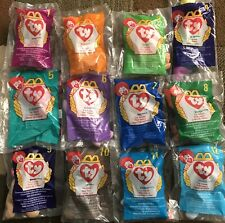 McDonalds Teenie Beanie Babies 1998 ~ New In Bags ~ Numbered 1-12
