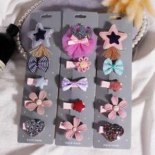 5PCS/Set Girls Hair Clips Alligator Barrette Accessories Cute Bow Crown Flower