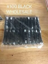 LOT 100Headset Headphone Earphone Samsung Galaxy HTC LG Android BLACK  WHOLESALE