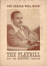 "Alfred Drake ""CRADLE WILL ROCK"" Vivian Vance / Marc Blitzstein 1948 Playbill"