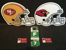 Arizona Cardinals v San Francisco 49ers 10/31 Green F Field Lot Parking Pass Tix