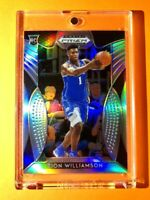 Zion Williamson SILVER REFRACTOR ROOKIE PANINI PRIZM DRAFT PICKS RC #64 - Mint!